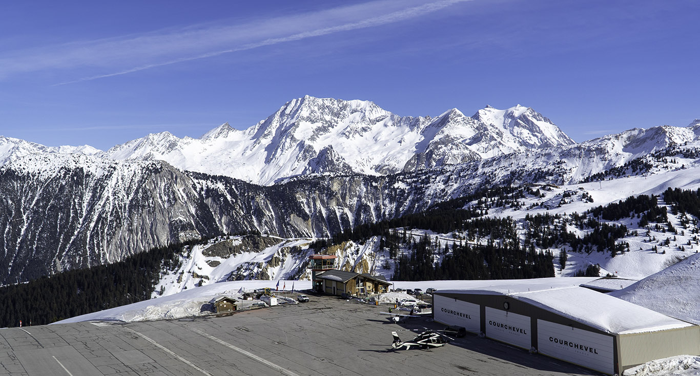 Wide view of Courchevel Altiport