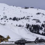 Helicopter pad at Courchevel Altiport