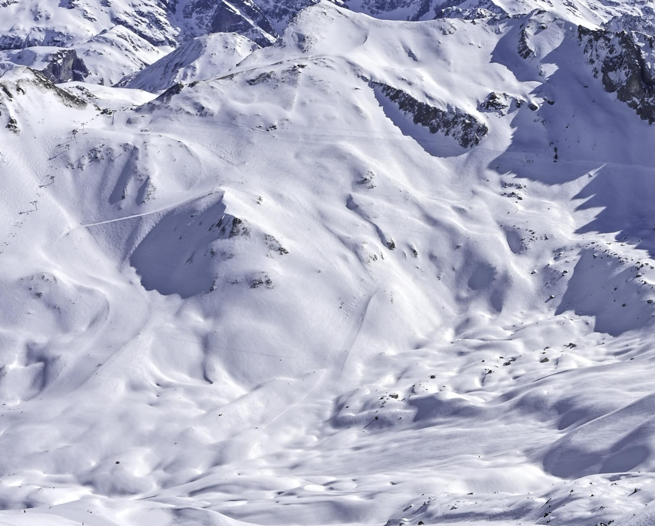 Chanrossa ski run Courchevel