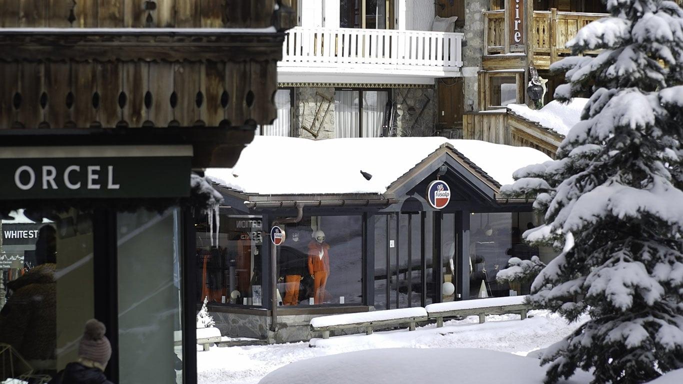 Fusalp luxury ski wear shop in Courchevel