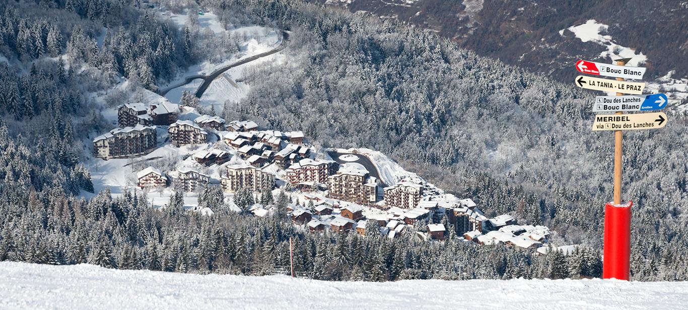 La Tania ski area
