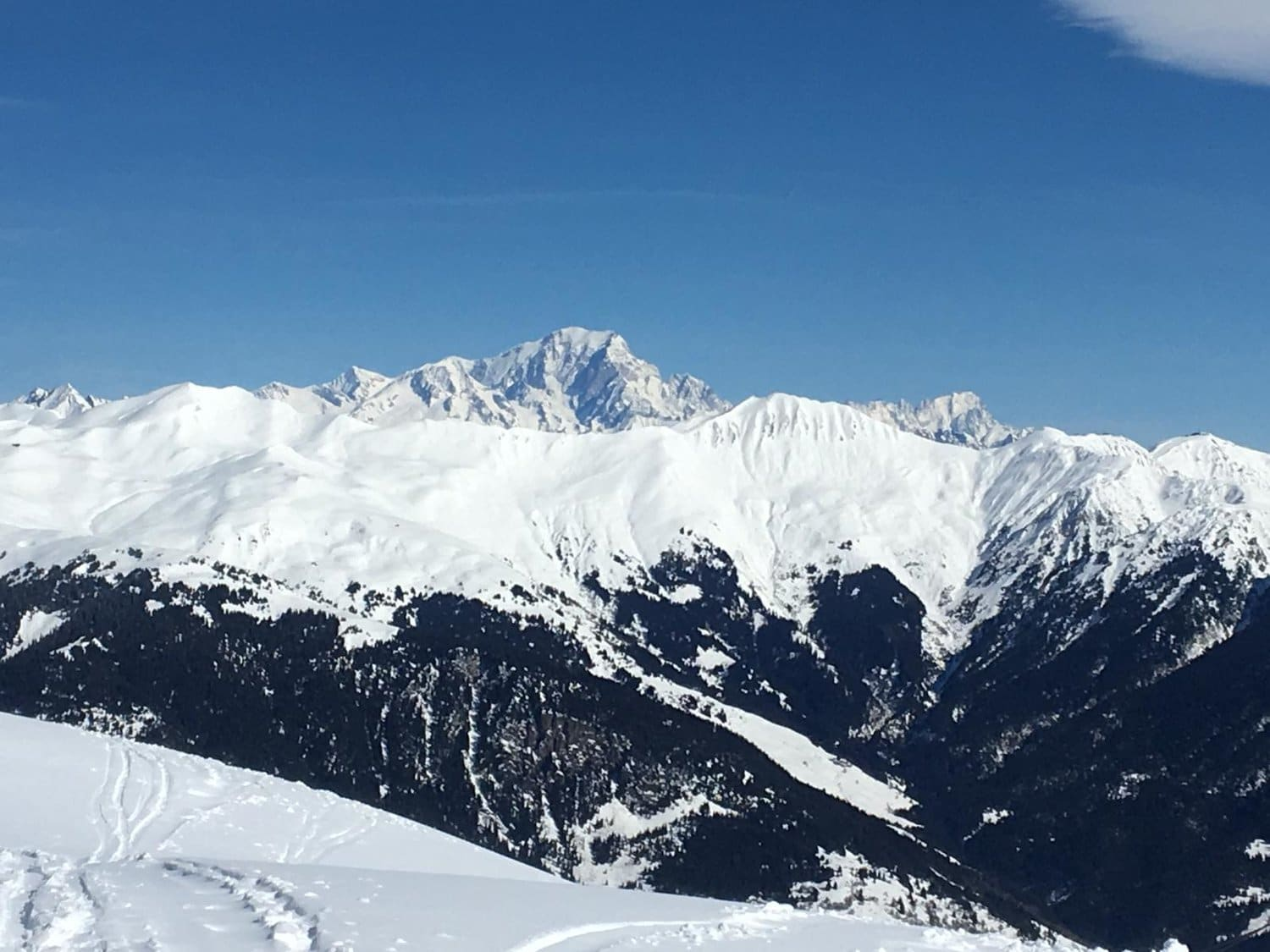 mont blanc from Courchevel