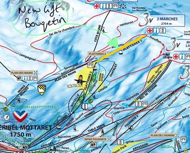 New 3 valleys ski lift for 2020/2021