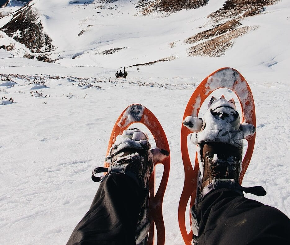 Snowshoeing is a thing to do in Courchevel