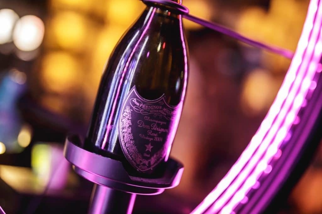 champagne at La Mangeoire nightclub in Courchevel