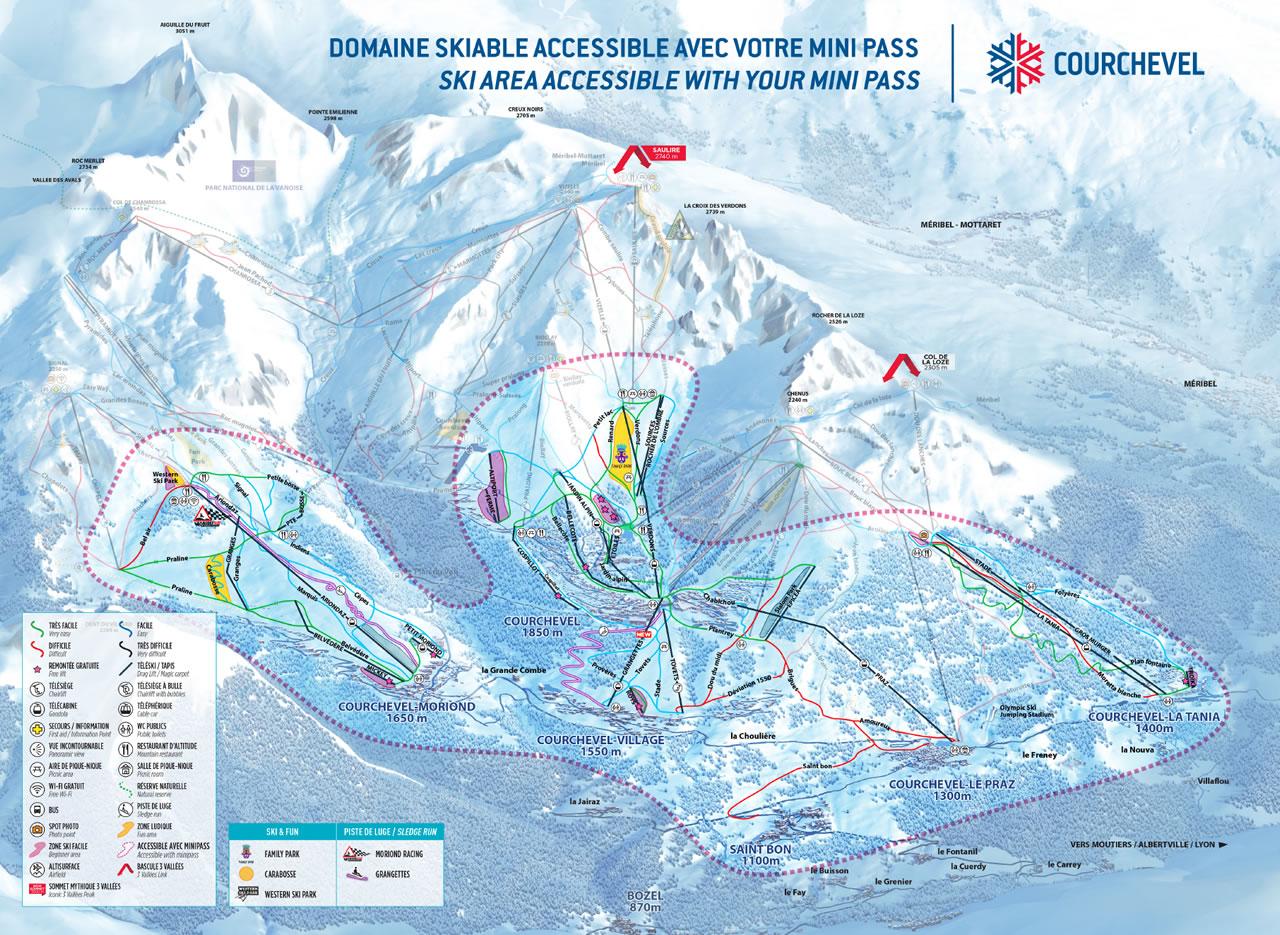 Courchevell Beginners ski area