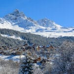 Meribel Saulire with chalets