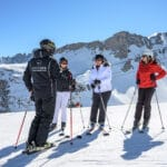 Private group ski lessons in Courchevel