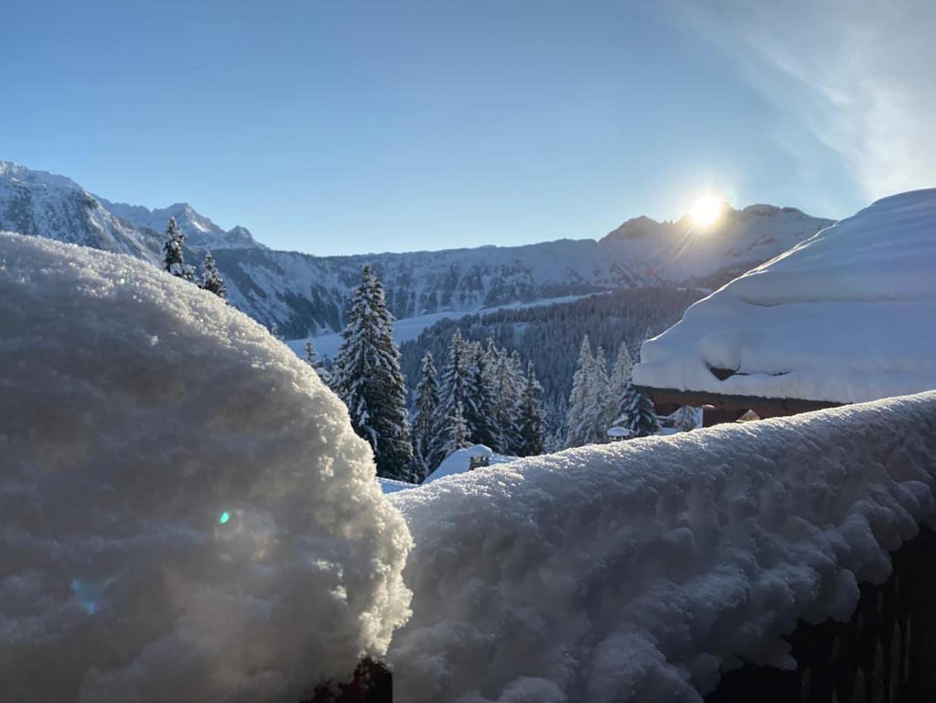 chalet montana landscape view