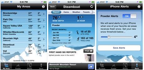 OnTheSnow ski app
