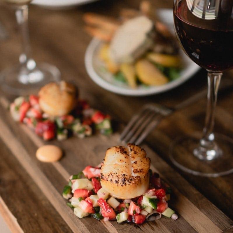 Gourmet food in a luxury ski chalet