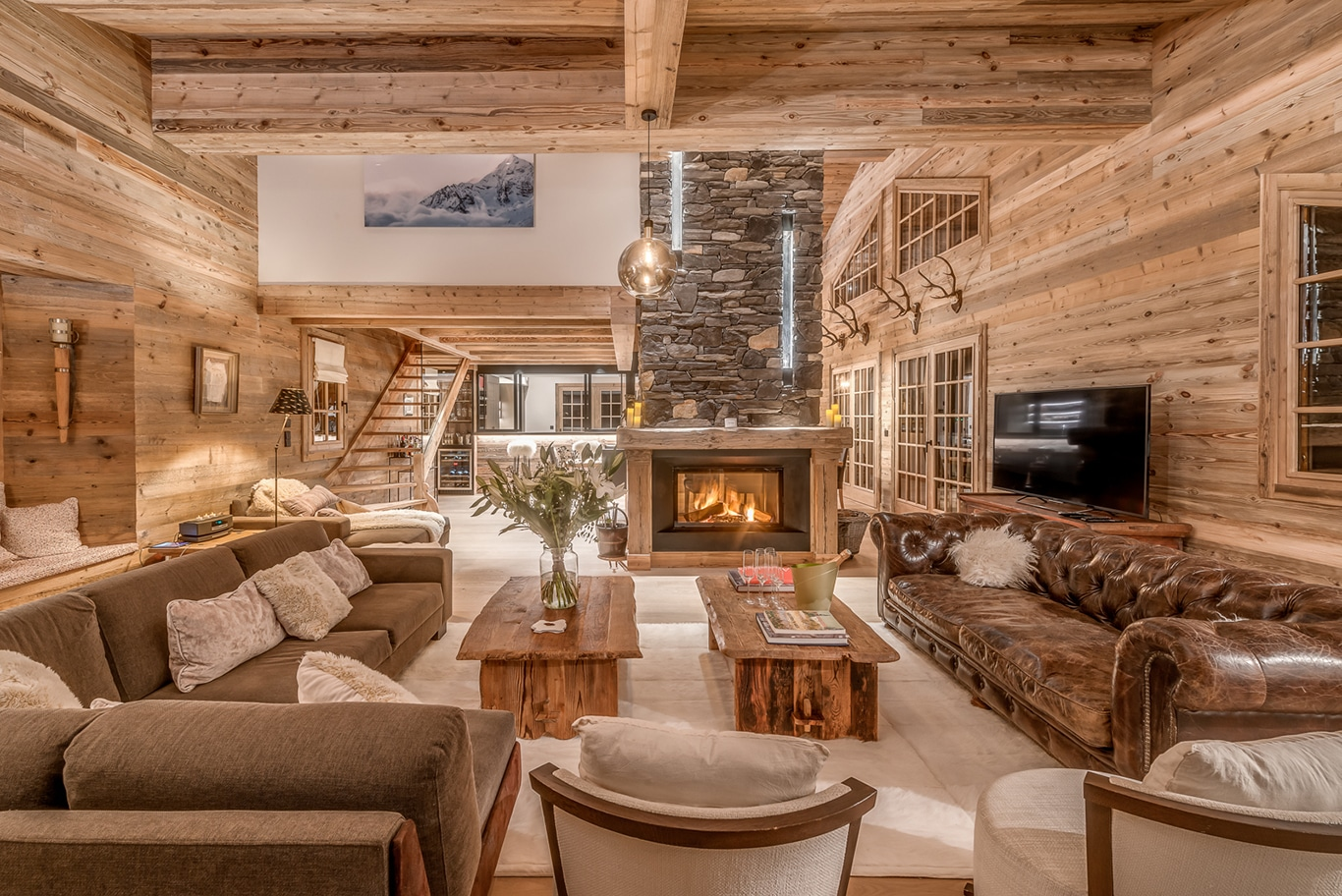 Chalet Namaste Courchevel 1850 Living Room