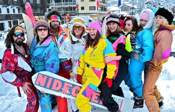 apres ski clothing bright and retro