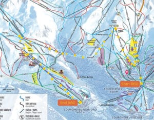 Courchevel 1850 to Courchevel 1650 maps
