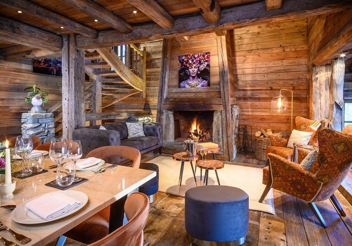 Chalet Montana living dining 2