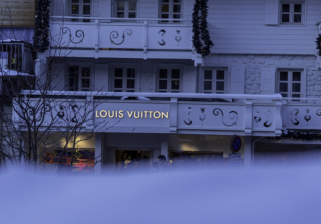 Louis Vuitton in the snow