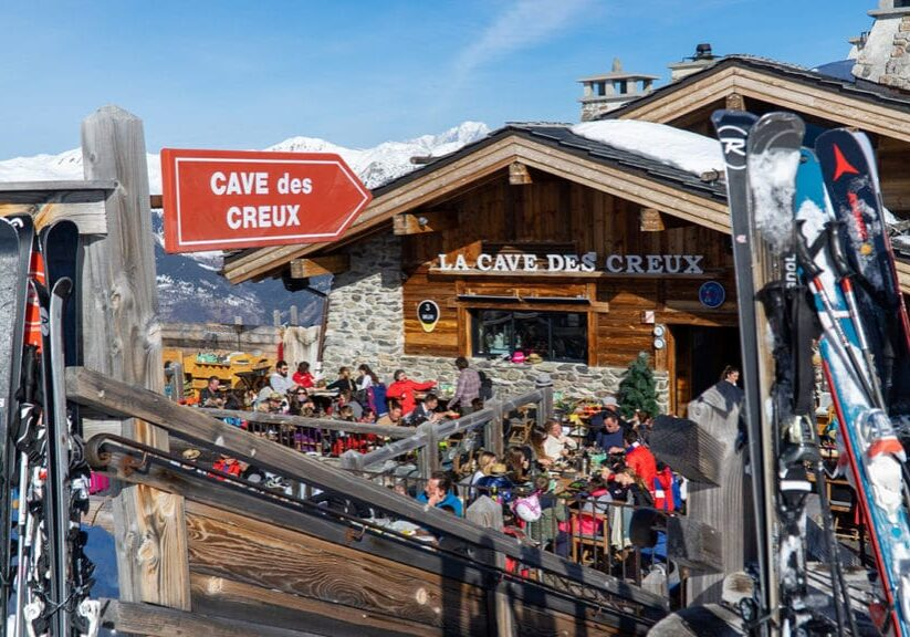 lunch at caves des creux in Courchevel